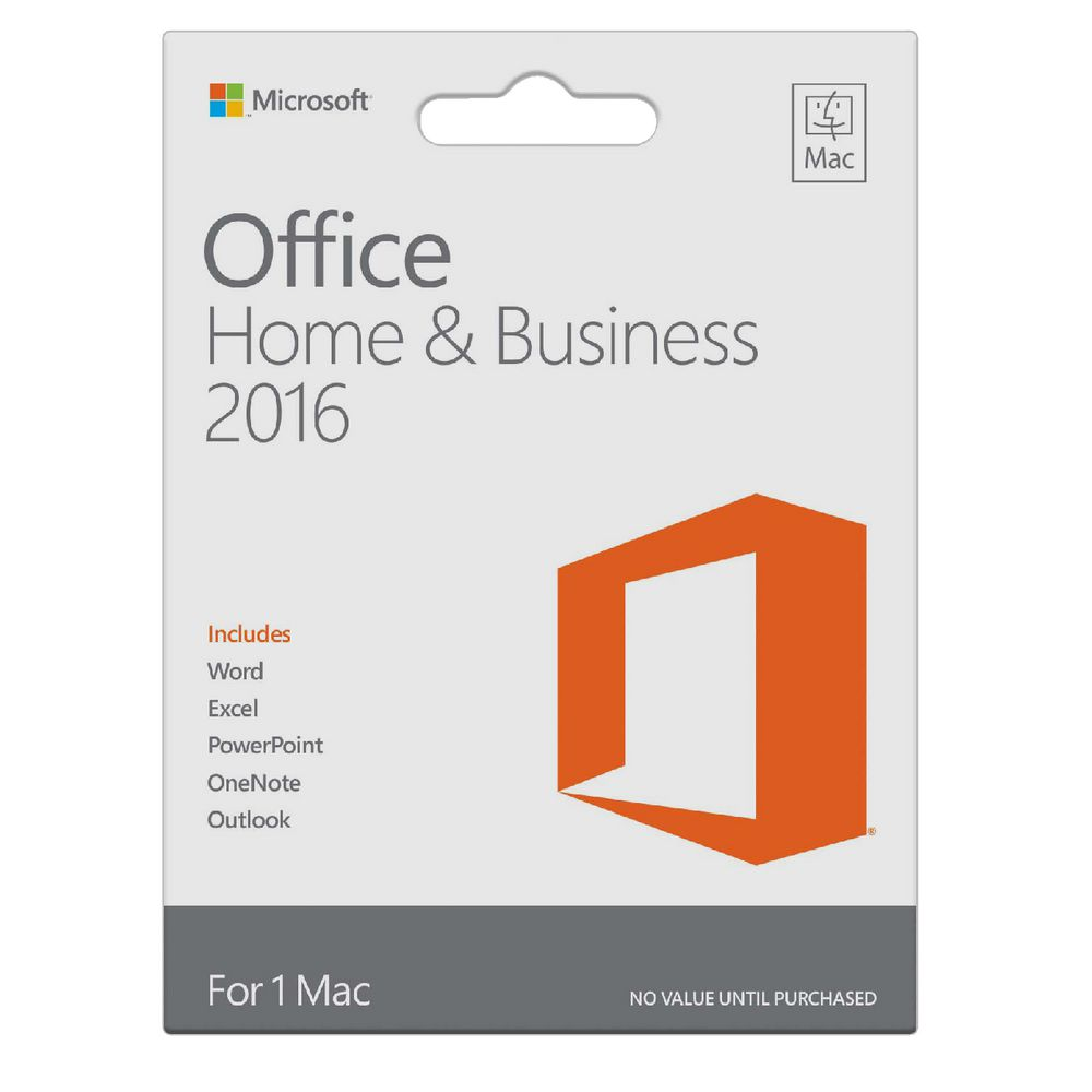 Phần mềm Office Mac Home and Business 1PK 2016 English APAC EM Medialess (W6F-00476)