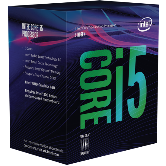 Intel Core i5-8400 CoffeeLake (2.8GHz up to 4.0GHz)