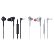 Tai nghe In-ear Solid Bass có mic Audio Technica ATH-CKS55XiS (White)